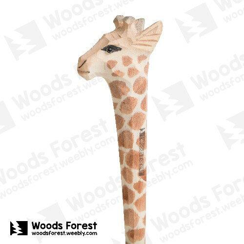 木雕森林 Woods Forest - 動物手工木雕筆【長頸鹿】(WF-P59)