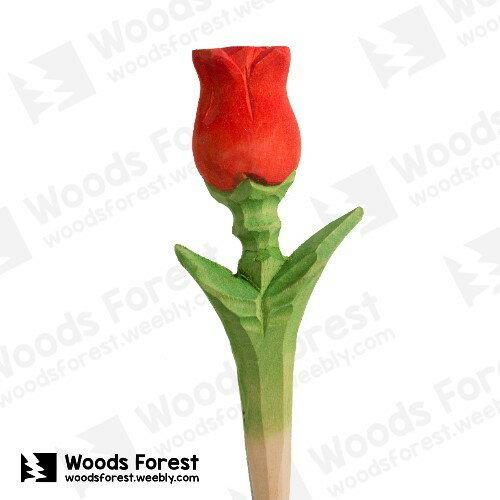 木雕森林 Woods Forest - 手工木雕筆【玫瑰花】(WF-P65)