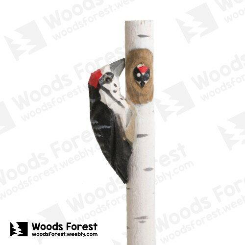 木雕森林 Woods Forest - 動物手工木雕筆【啄木鳥】(WF-P17)