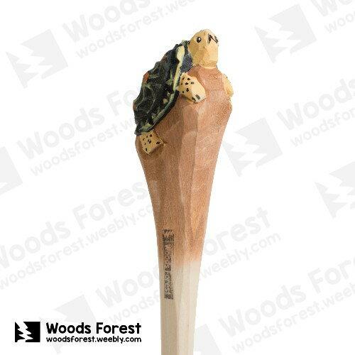 木雕森林 Woods Forest - 動物手工木雕筆【星龜】(WF-P21)