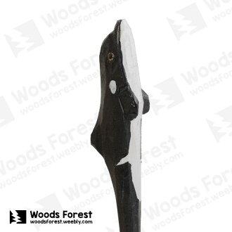 木雕森林 Woods Forest - 手工動物木雕筆【殺人鯨】(WF-P29)