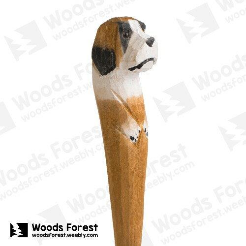 [絕版品] 木雕森林 Woods Forest - 手工動物木雕筆【聖伯納犬】( 筆質量輕;握筆輕鬆舒適;滑順好寫,用完可替換,實用且經濟!)