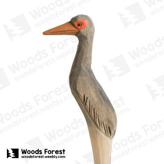 木雕森林 Woods Forest - 手工動物木雕筆【灰鷺】(WF-P11)