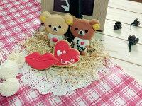 白色情人節禮物到【GJ 私藏點心】    七夕情人節限定款~~拉拉熊    I LOVE U  愛心+愛的飛吻【4片入】 手繪糖霜餅乾禮盒