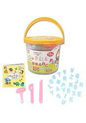3Q創意DIY/3Q小麥黏土:歡樂ABC(桶裝18色)
