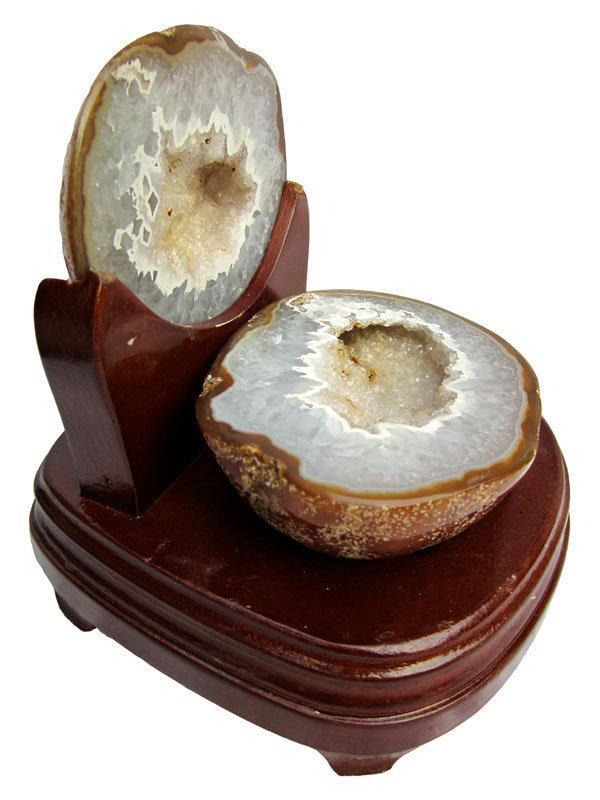 瑪瑙洞水晶聚寶盆瑪瑙聚寶盆擺件1.64kg一圖一物