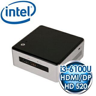 INTEL NUC NUC6I3SYH(i3-6100U) Kit mini PC《搭載Skylake第六代 CPU》
