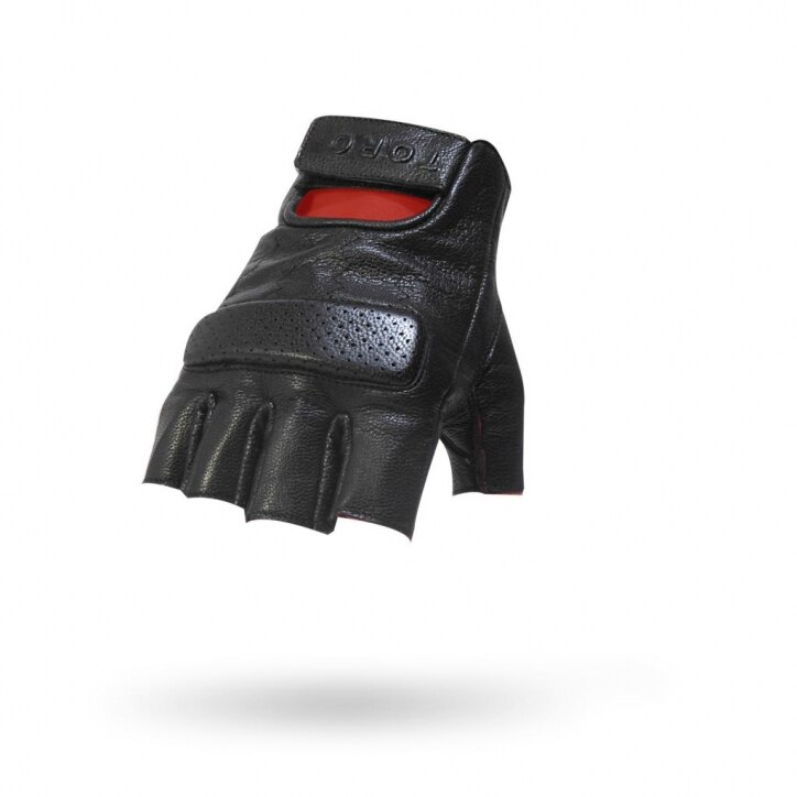 ~任我行騎士部品~美國 Torc 重機手套 Oxnard 黑 山羊皮 短手套 無指手套 復古手套