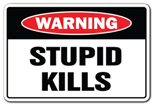 "Stupid Kills [3 Pack] of Vinyl Decal Stickers 3.3"" X 5"" Indoor/Outdoor Funny decoration for Laptop, Car, Garage, Bedroom, Offices SignMission bdec82b69bed30d14536cf64b5c5e78e"