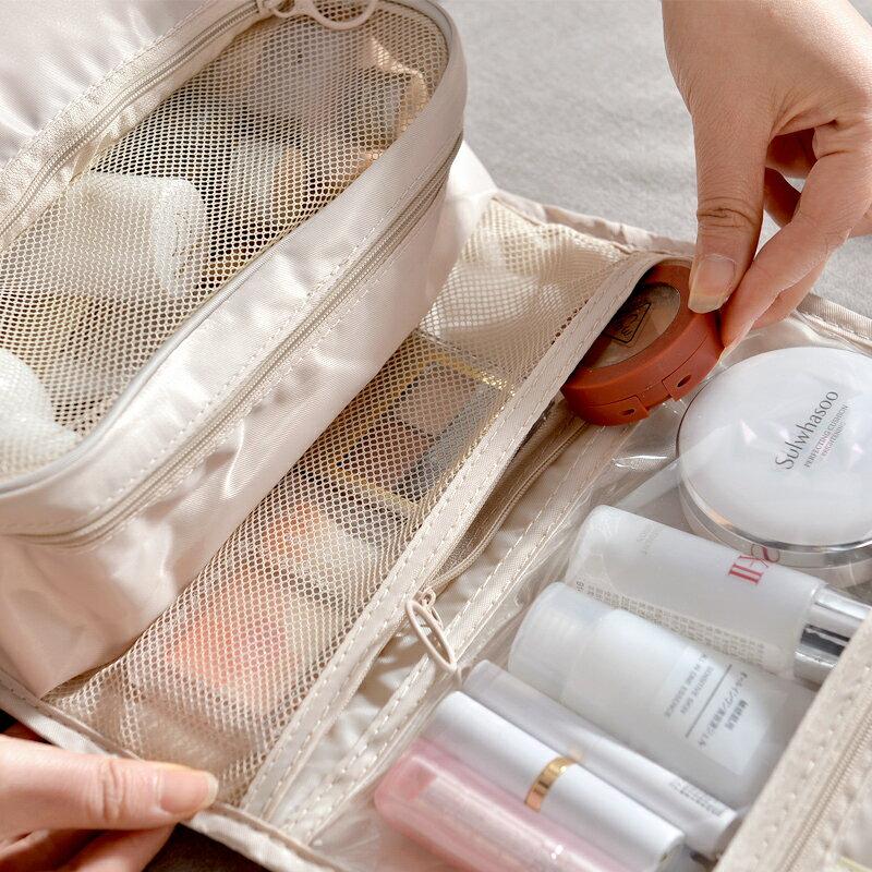 台灣現貨 旅行化妝包 大容量 收納包 收納袋 出國旅行包 拉鏈3C手機耳機用品收納袋多功能女生 保養品小包 2