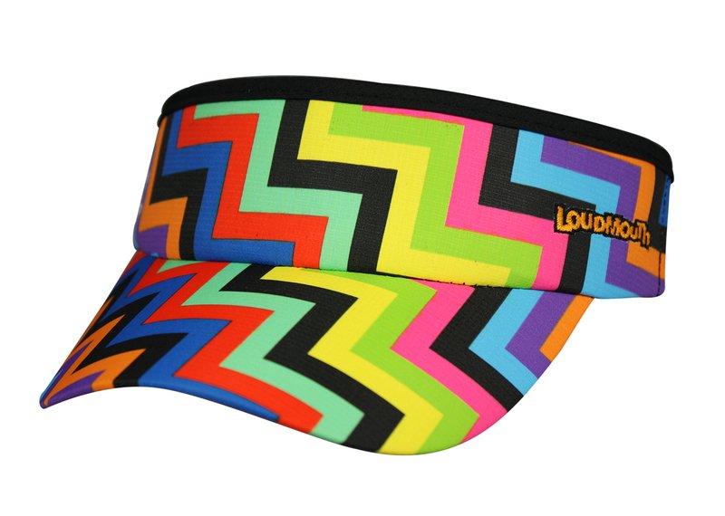 Loudmouth 高爾夫中空帽 (彩色階梯、迪斯可球) 二種款式