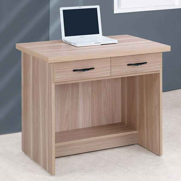 電腦桌 書桌 工作桌 辦公桌 學生書桌《YoStyle》雪琪2.7尺二抽書桌-原木色