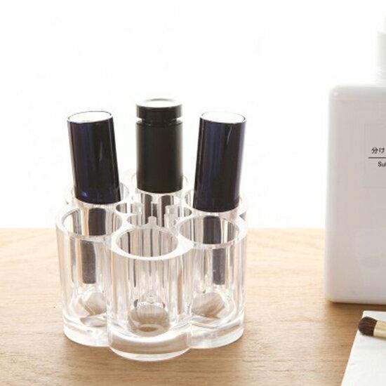 ♚MY COLOR♚無印風格系列-口紅彩妝收納盒 整理盒 刷具 透明 壓克力 化妝品 收納 口紅架【P275】