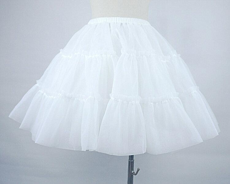 美琪 軟紗無骨暴力裙撐lolita白色紗裙婚紗襯裙半身裙蓬蓬裙