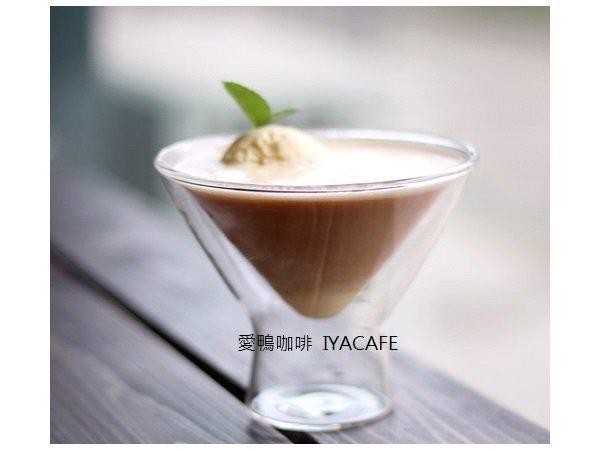 《愛鴨咖啡》雙層 卡布其諾玻璃杯 雞尾酒杯創意咖啡 冰淇淋杯 200cc