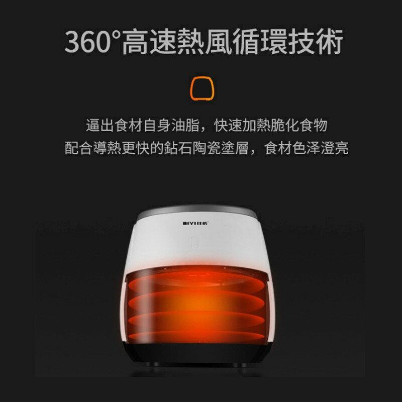 比依氣炸鍋 af-25a 氣炸鍋 智能無油煙110v觸控面板6.4L超大 七代空氣炸鍋陶瓷塗層大容量