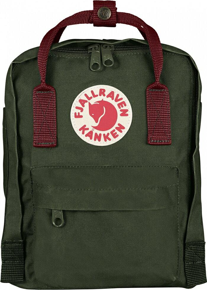 ├登山樂┤瑞典Fjallraven Kanken Mini 復古後背包 方型書包 森林綠/公牛紅#F23561-660326