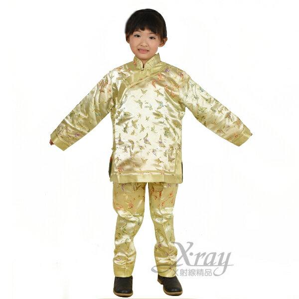 X射線【W370056】中國服(黃),化妝舞會/員外/黃飛鴻/萬聖/聖誕/兒童變裝/cosplay/表演/攝影/寫真/功夫裝/武術/武士