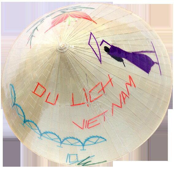 越南特色傳統故鄉斗笠有圖騰花樣~超 只有一次機會↘4折 ~  好康折扣