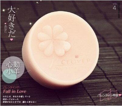 心動小羊^^矽膠模具手工皂模具圓形立體四葉草模具幸運草單個矽膠蛋糕模具、餅乾模