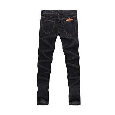 DITION 窄管牛仔褲 原色DENIM微刷破口袋皮革 彈力 合身 3