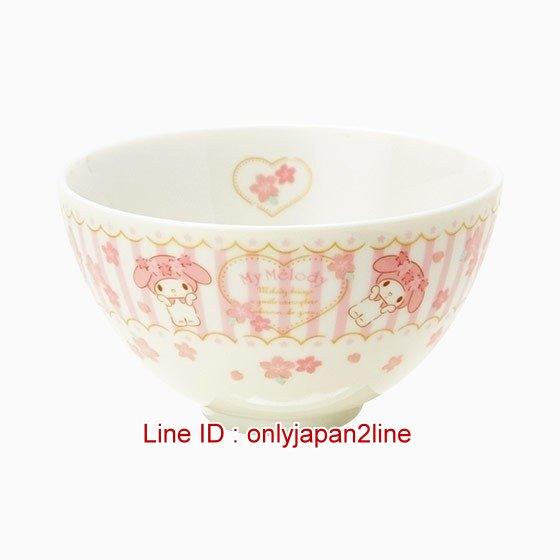 【真愛日本】4901610191149 日本製陶瓷碗-MM 三麗鷗家族 Melody 美樂蒂飯碗 湯碗