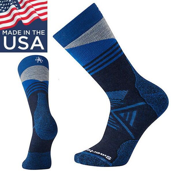 【Smartwool美國】PhDOutdoorMediumCrew厚避震墊中筒襪美麗諾羊毛襪登山襪深海軍藍/SW001209092