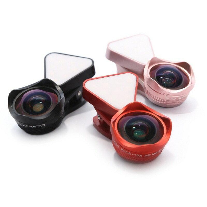 ONAIR AI058 抗變形 補光燈 廣角鏡頭 微距 二合一 鏡頭 4K HD高清 廣角鏡 自拍神器 手機鏡頭