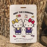 凱蒂貓週邊商品推薦到【真愛日本】18090700015 皮質證件套-雙胞胎白 凱蒂貓 kitty 辦公用品 證件套 卡片套 卡片收納