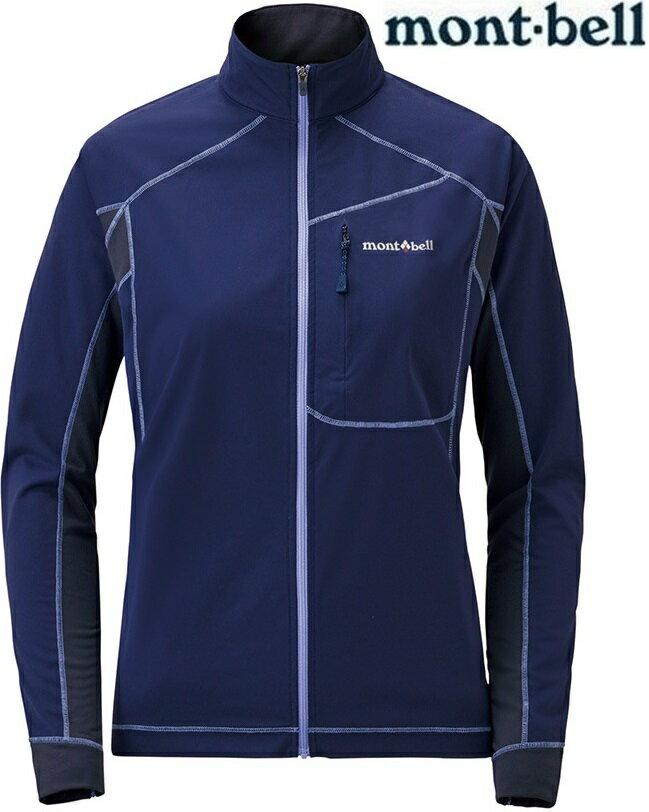 Mont-Bell 彈性跑步風衣/薄軟殼外套 女款軟殼夾克 Cross runner 1106642 午夜藍MIBL