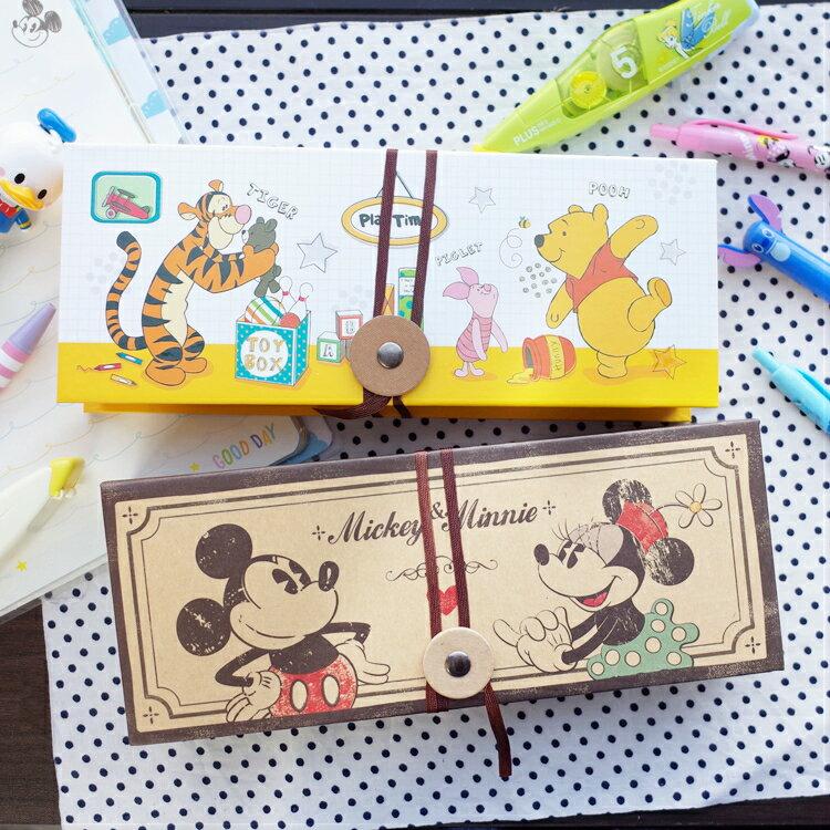 PGS7 迪士尼系列商品 - 迪士尼 萬用 繞繩款 文具盒 鉛筆盒 米奇米妮 Mickey 維尼 Winnie【SIU7265】