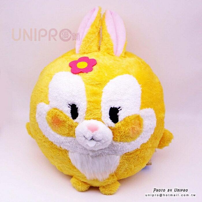 【UNIPRO】迪士尼正版 邦妮兔 Bunny 圓球 絨毛娃娃 抱枕 靠枕