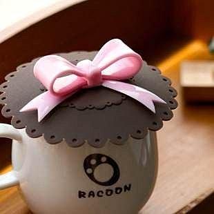 =優生活=生活創意 蝴蝶結防漏杯蓋 矽膠杯蓋 萬能密封杯蓋 多用杯蓋