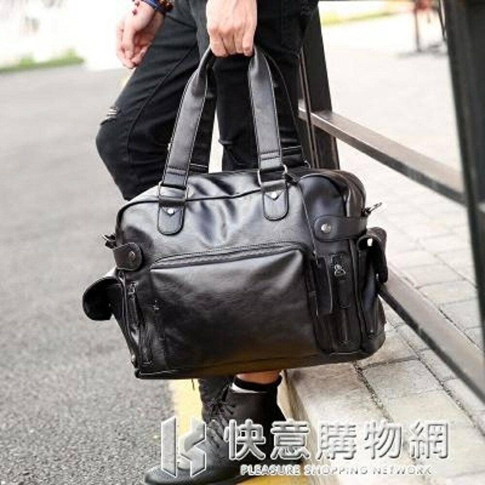 行李袋時尚街頭男包單肩包側背包男士包包手提包休閒韓版潮流包旅行包潮 快意購物網SUPER SALE樂天雙12購物節