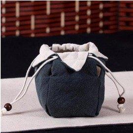 【手工布袋-杯袋/壺袋2號-長8.5*寬8.5*高12cm-4個/組】陶瓷茶具功夫茶杯禮品袋茶道零配手工陶瓷茶杯子布袋-7501021