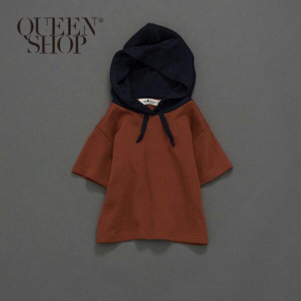 QueenShop【01037441】童裝親子系列連帽短T兩色售SML*現+預*