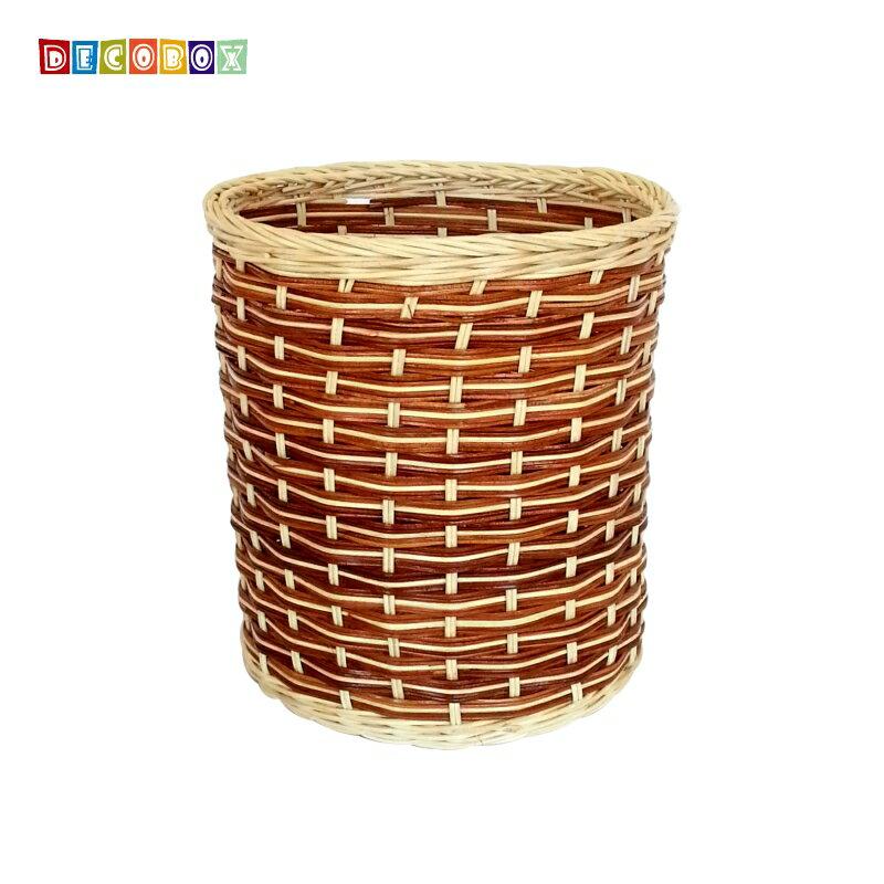 DecoBox鄉村風藤編小收納桶(垃圾桶, 盆套,法國麵包盤,備品籃,收納雜物)