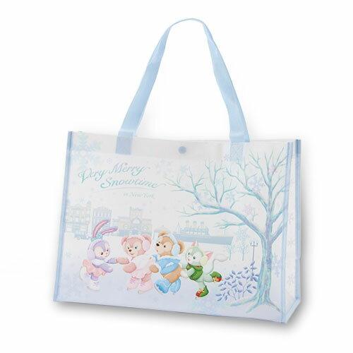 <br/><br/>  X射線【C459002】日本東京迪士尼代購-達菲Duffy 滑雪環保袋,美妝小物包/筆袋/面紙包/化妝包/零錢包/收納包/皮夾/手機袋/鑰匙包<br/><br/>