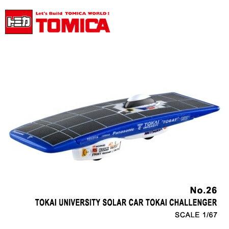 日貨 TOMICA No.26 TOKAI UNIVERSITY SOLAR CAR TOKAI CHALLENGER 東海大學太陽能車 真車系列 汽車模型 多美小汽車【N201331】