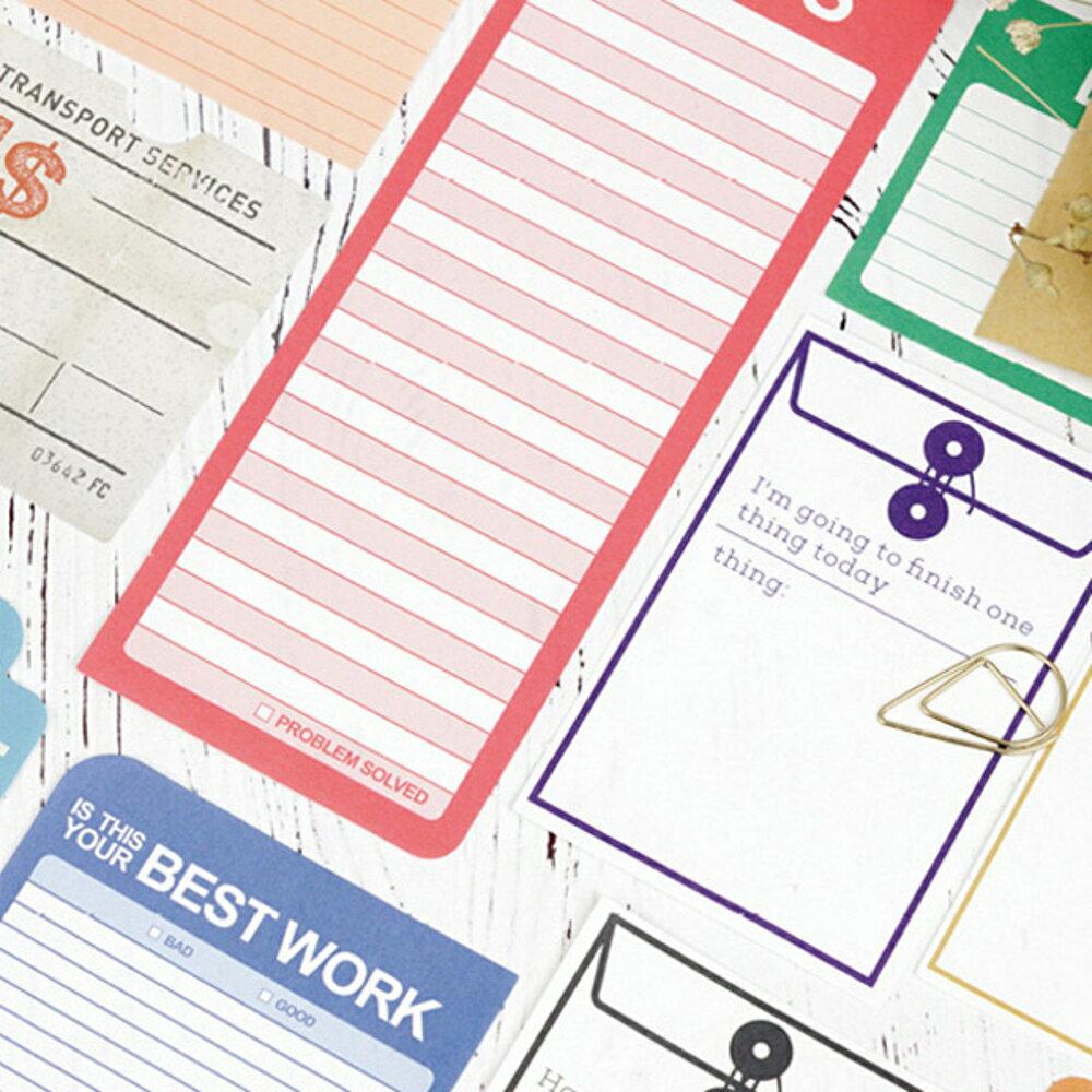 黑色行李箱一紙日記系列便條紙 留言卡 備忘錄【BlueCat】【JC3101】 2