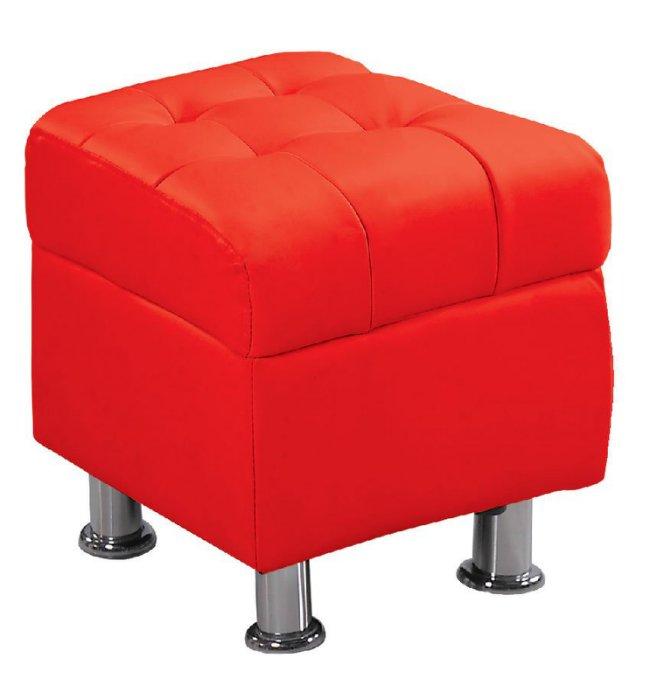 ~尚品 ~ JF~181~9 庫倫40紅皮沙發椅凳