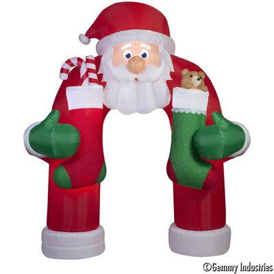 X射線【X038992】366cm動鬍子老公公拱門(混和型動作充氣),聖誕佈置/充氣擺飾好收納/聖誕充氣/佈置/開幕/會場佈置/打卡