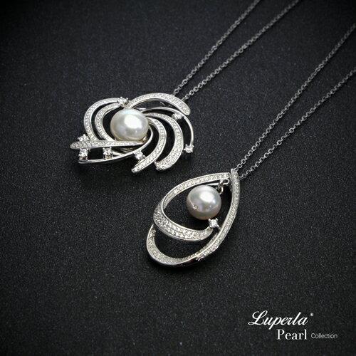 大東山珠寶 燦若繁星 純銀晶鑽珍珠項鍊 1