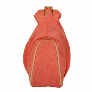 JJ009立體抓皺肩背包─珊瑚紅 / 橄欖綠 / 湖水藍 共三色 2