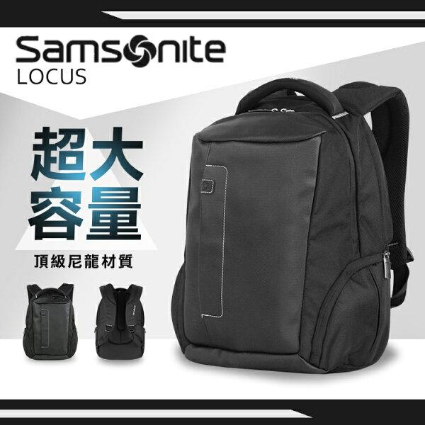 《熊熊先生》新秀麗Samsonite後背包防潑水肩背包15.4吋筆電平板後背包iPad電腦雙肩包Z36寬版背帶LOCUS