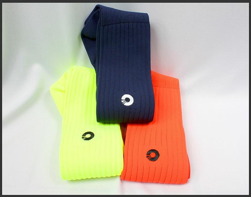 Comsport *彈性足球組合襪*-三色(黃橘丈青) 0