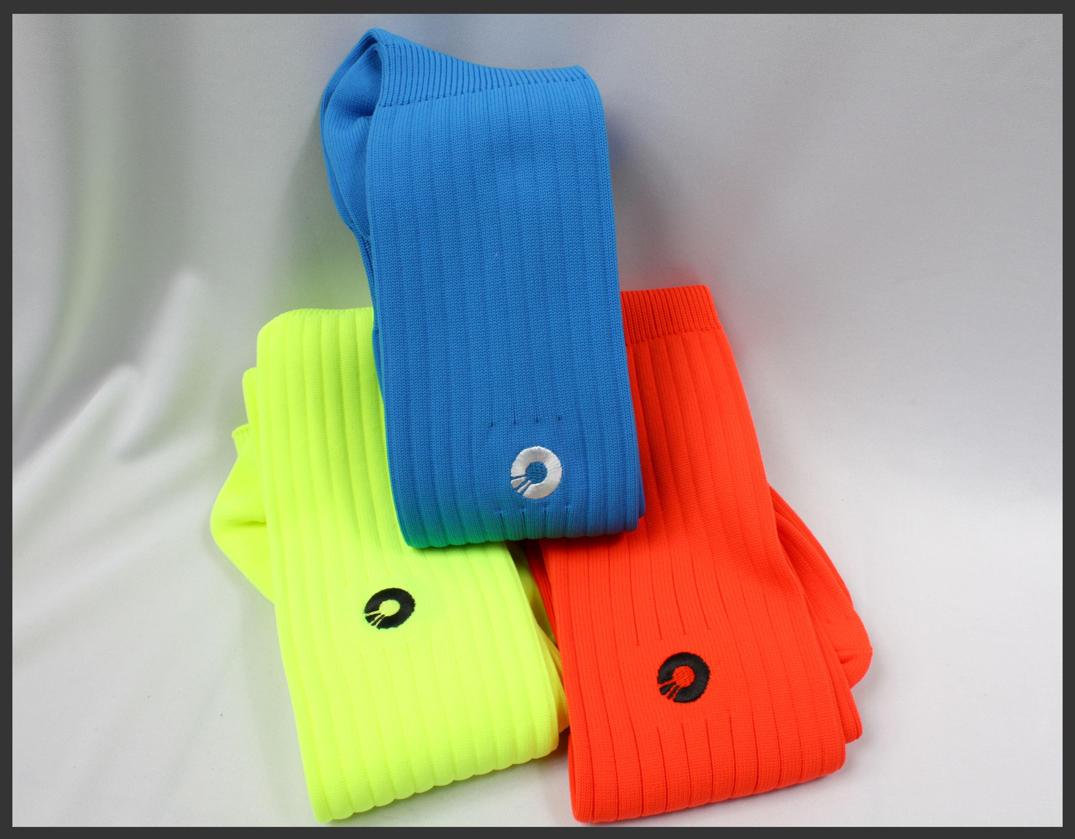 Comsport *彈性足球組合襪*-三色(黃橘藍) 1
