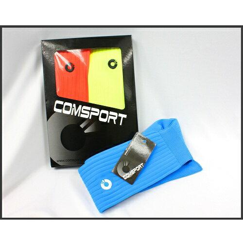 Comsport *彈性足球組合襪*-三色(黃橘藍) 2