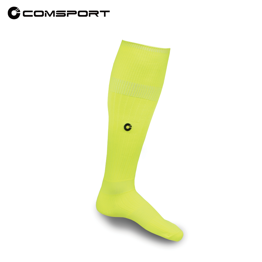Comsport *彈性足球襪*- 螢光黃 - 限時優惠好康折扣
