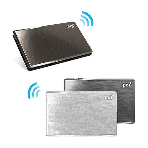 [富廉網]【PQI】AirDrive無線Wifi讀卡機A10032G黑銀鐵灰